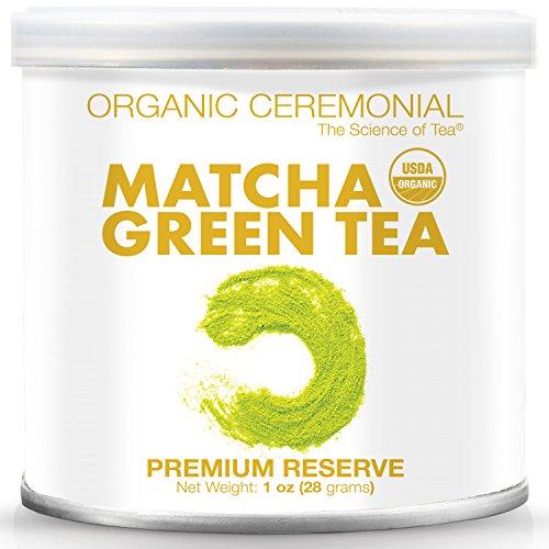 Matcha DNA Certified Organic Ceremonial Grade Matcha Green Tea 1 Ounce Tin ()