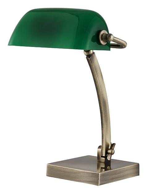 Traditional Antique Brass Adjustable Bankers Desk Lamp by Haysom ...