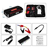 600A Peak Car Jump Starter (up to 6L Gas, 2L Diesel ) 16800mAh Portable Car Jump Starter Battery Booster Pack Power Bank with LED Torch for Laptop Phone Tablet