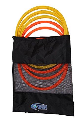 Set of 12 World Sport Speed Rings (6 Neon Orange / 6 Neon Yellow)