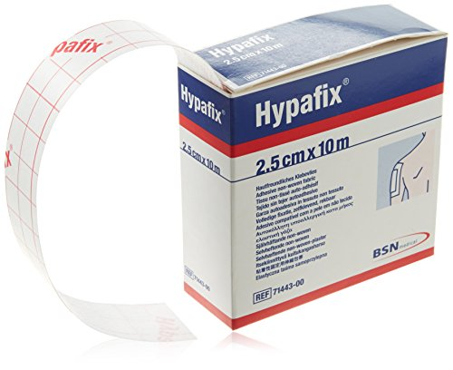 (Hypafix Self Adhesive Dressing Retention Tape Thin (2.5cm x 10 meter) Stretchable Non-Woven)