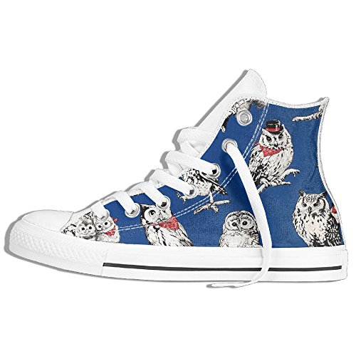 Country House Owls Unisex Sneakers Skate Shoe Hi Top
