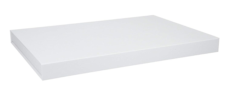A4 30x21x2cm hochwertige Geschenkverpackung f/ür Dokumente Magnetbox Weihnachten Geburtstag Artikel Farbe:wei/ß matt Hochzeit Geschenke Schachtel