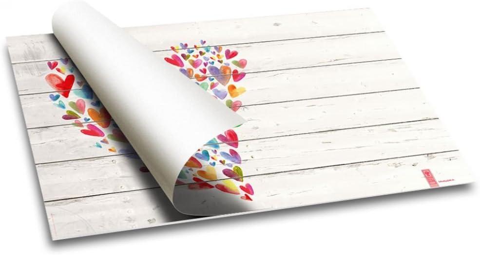 """Schreibunterlage mit Herz-Motiv bunt Papier 40 Blatt Kinder /& M/ädchen Schreibtischunterlage /""""Mit Liebe/"""" Schreibgef/ühl/® DIN A2"""
