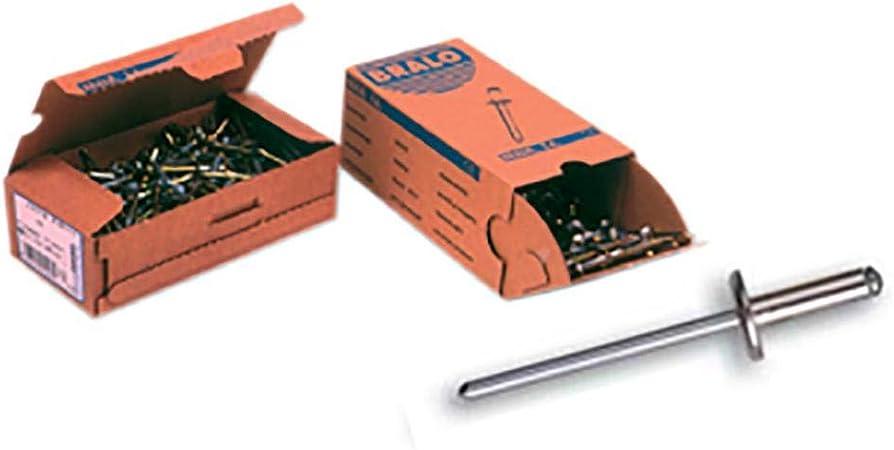 Remache aluminio cabeza ancha aluminio//acero zincado 4,0 x 10 Index RECA4010