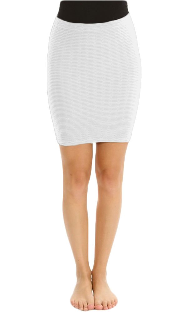 Sugarlips Women's Seamless Mini Skirt, White