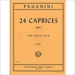 24 CAPRICES PAGANINI VIOLA PDF DOWNLOAD