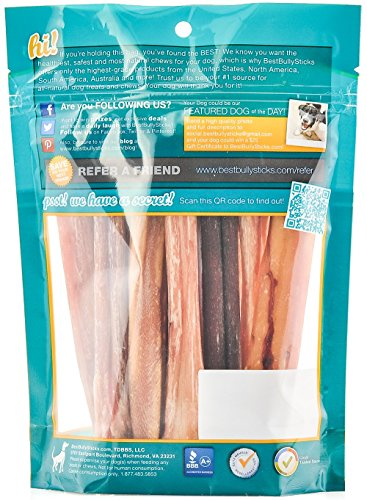 100-Natural-6-inch-Bully-Sticks-by-Best-Bully-Sticks-8oz-Bag