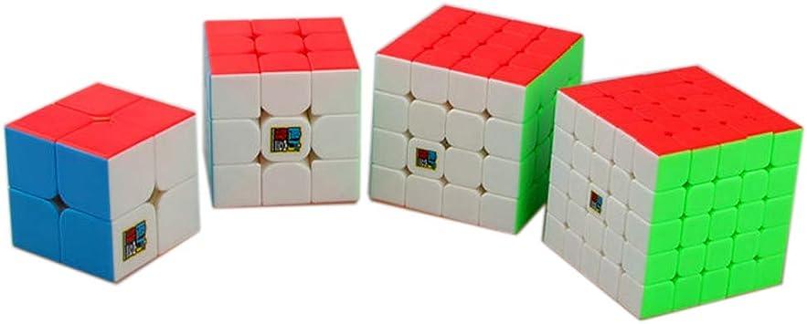 Moyu MoFangJiaoShi MFJS Paquete de Cubo de Velocidad sin Pegatinas 2x2 3x3 4x4 5x5 Cubo mágico Cubing Classing Smooth Puzzles Cube Set con Embalaje de Regalo: Amazon.es: Juguetes y juegos