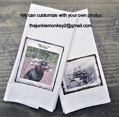 (Personalized Custom Photo Kitchen/Bath Hand Towel - Family Memory Towel)