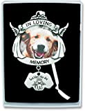 Cathedral Art CO737 In Loving Memory Angel Dog Frame Plaque with Hanger, 4-Inch High