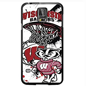 University of Wisconsin Badgers Red, Black, and White College Basketball Sports Hard Snap on Phone Case (Galaxy s5 V) wangjiang maoyi