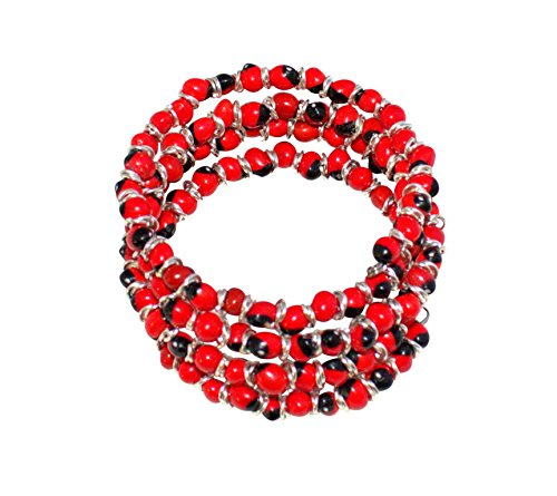 Peruvian Bracelet for Women - Huayruro Red Black Seed Wrap - Eco Jewelry by Evelyn Brooks