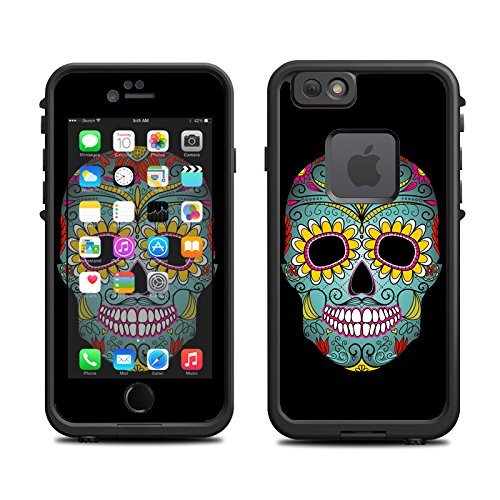 Skin for Lifeproof 6 Case (skins/decals only) - Day of the Dead, Sugar Skull Floral Girl
