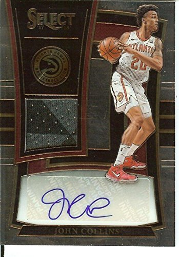 Basketball NBA 2017-18 Select Rookie Jersey Autographs #18 John Collins MEM Auto/199 Hawks from Select