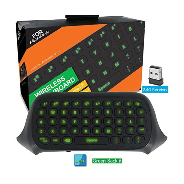 Whiteoak Xbox One S Chatpad Mini Backlit Gaming Keyboard Wireless Chat Message KeyPad with Audio/Headset Jack for Xbox… 6