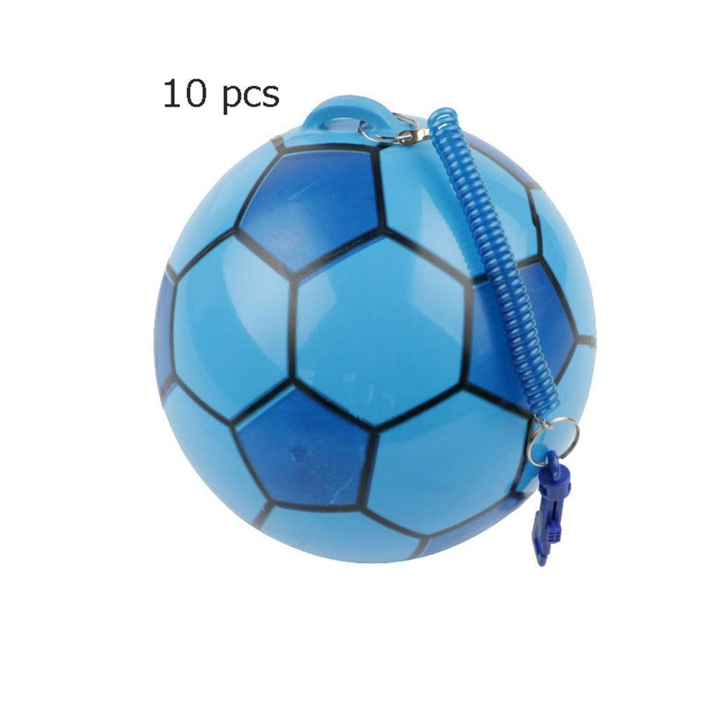 10 Pcs Kindergarten Toys Soccer Ball Mini Soccer Toys PVC Soft Balls for Toddlers Kids Aged 1-4 Years Old with Telescopic Belt Game Soccer Toy (Color : C1, Size : Free) by Ybriefbag-Balls