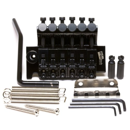 3 Floyd Rose Style Locking Electric Guitar Bridge - Black ()