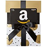 Amazon.ca $75 Gift Card in a Gold Reveal (Classic Black Card Design)