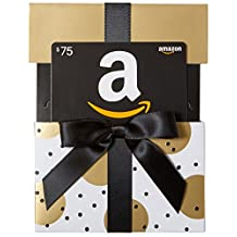 Amazon.ca $75 Gift Card in a Gold Reveal (Classic Black Card Design)