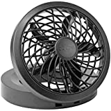 O2COOL 5 Portable USB or Electric Fan, Black