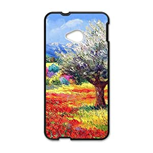 Personalized Creative Cell Phone Case For HTC M7,attractive colorful painting beauty scene