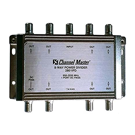 8-Way Splitter 2 GHz Power Divider 950 - 2050 MHz 1 Port DC Passive
