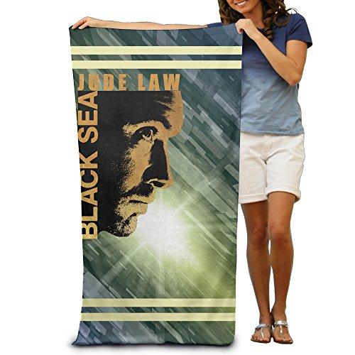 ^GinaR^ 300g Black Sea Stylish Luxury Beach Towel