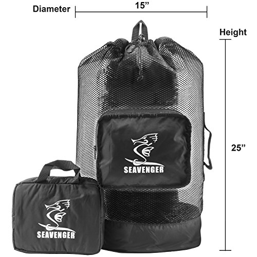 Scuba Diving Snorkeling Beach Sport Game Mesh Retractable Backpack Bag (Mesh Retractable Backpack)