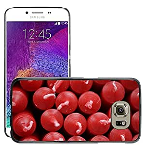 Hot Style Cell Phone PC Hard Case Cover // M00151541 Christmas Tree Candles Red Many // Samsung Galaxy S6 (Not Fits S6 EDGE)