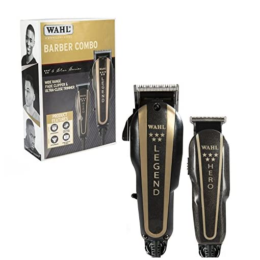 wahl professional 5-star - 51veJdGFPKL - Wahl Professional 5-Star Barber Combo #8180 Features a New Look 5-Star Legend Clipper and Hero T-Blade Trimmer