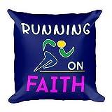 Running on Faith Pillow - Religious Gift Idea for Runner