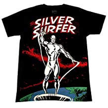 Silver Surfer Big Print (30 Single) T-Shirt, Men's