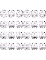 24 قطعة من مصابيح الشموع المقاومة للماء من Mobestech مصباح غاطسة لتزيين بركة السباحة والنافورة (زهرة البرقوق، أحمر)