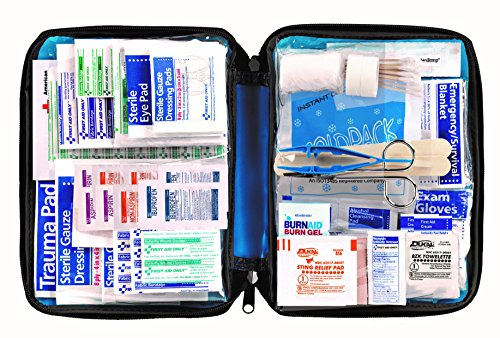 First Aid Only All-purpose First Aid Kit, Soft Case with Zipper, 299-Piece Kit, Large, Blue