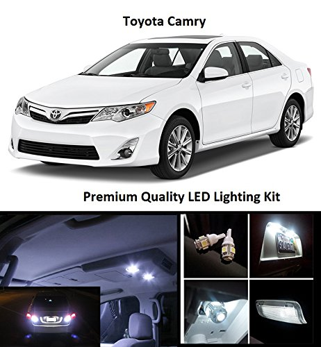 Elitetech 2017 2018 Toyota Camry Premium Led Package Xenon White Interior License Plate