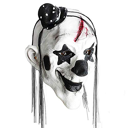 MoGist Halloween Funny Clown Mask Black and White