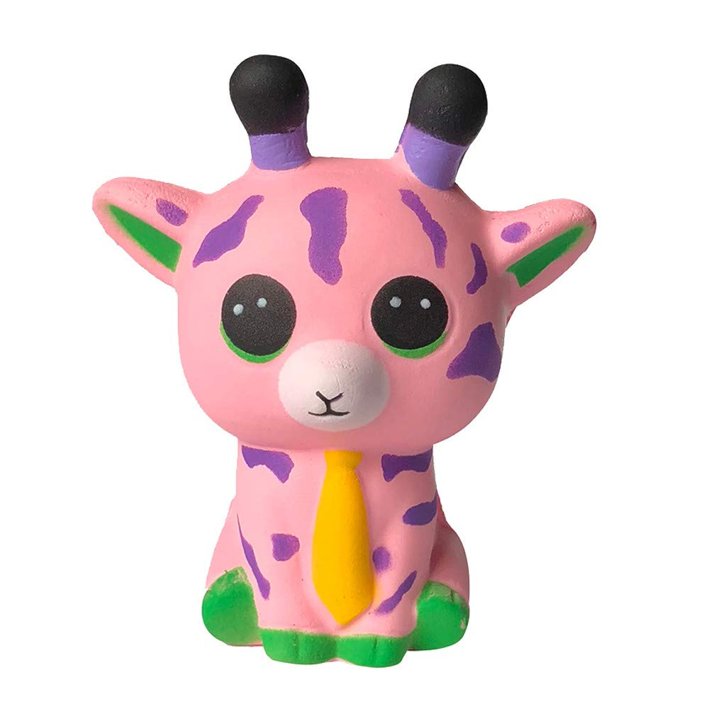 Choosebuy❤️ Squishies Jumbo Spotted Deer Charm Cream Scented Slow Rising Stress Relief Toys Birthday Xmas Collection Kawaii Toy for Kids (Pink)