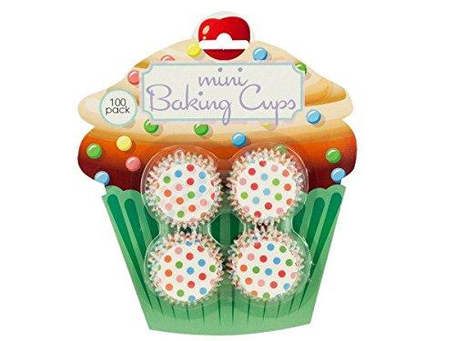 Bulk Buys HW765-24 Mini Polka Dot Print Baking Cups, 24 Piece
