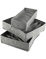 Fdit Organizer pudełko do przechowywania kratka szafa pyłoszczelne pokrywki zmywalny biustonosz szafka szafki szafki spodnie bielizna biustonosz skarpety 3 szt