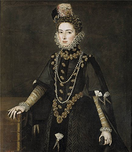 Oil Painting 'Sanchez Coello Alonso Catalina Micaela De Austria Duchess Of Savoy Ca. 1585 ' Printing On Polyster Canvas , 12 X 14 Inch / 30 X 35 Cm ,the Best Wall Art Decor And Home Decoration And Gifts Is This Replica Art DecorativeCanvas Prints