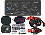 EDOG Sig Sauer P320 Cerus Instuctional Step by Step Gun Cleaning Mat & Black Hard Stone Hot Shot High Vis Handgun Pistol Range Duty Bag & 27 Pc Hand Gun Range/Field Cleaning Kit