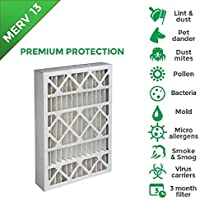 16x25x4 MERV 13 AC Furnace 4 Inch Air Filters. 2 Pack