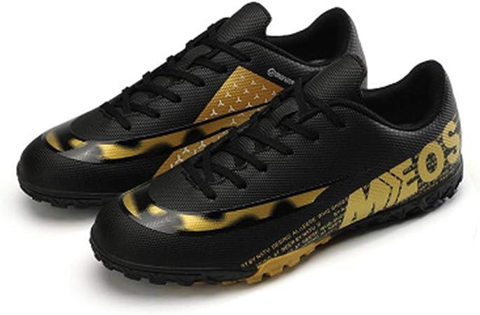 IDE Play Zapatos de fútbol Botas FG/TF Adolescente de Entrenamiento de fútbol Atletismo en Pista Cubierta Zapatillas de Deporte de los Deportes al Aire Libre para niños Unisex,Negro,47: Amazon.es: Hogar