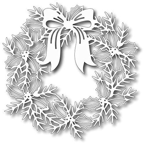 s Christmas Wreath Frame Stencil for Making DIY Scrapbook Album/Photo Cards Embossing Template ()
