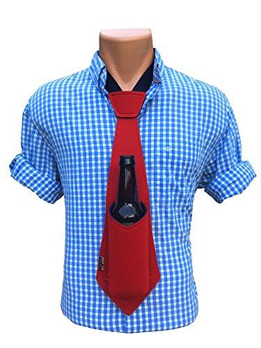 Bev Glass - Bev Tie The Original Hands Free Drink Holder - Beer Tie (Red)