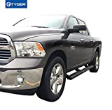 Tyger Auto Black TG-RS2D40078 Riser for 09-18 Dodge Ram 1500 (Including 2019-2020 Classic)/10-20 2500/3500 Crew Cab 4inch Side Step Nerf Bars Running Boards