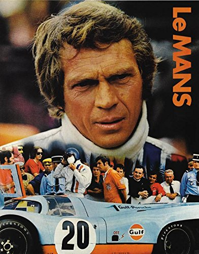Old Tin Metal Sign Le Mans Steve Mcqueen Poster