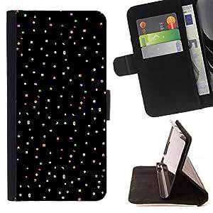 Momo Phone Case / Flip Funda de Cuero Case Cover - Motif en tissu noir Clean - LG Nexus 5 D820 D821