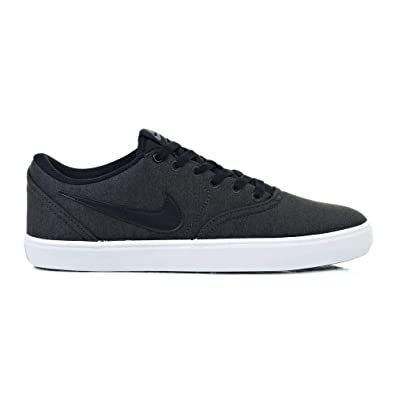 new york e4584 fcc7a Nike Men s SB Check Solarsoft Canvas Premium Black Black-White 844493-007 (